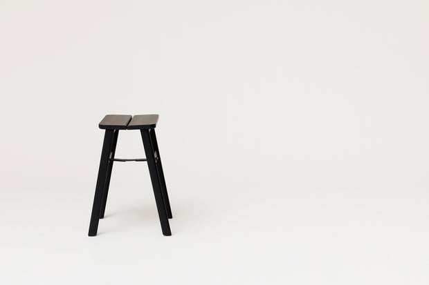 Form & Refine Angle Stool, Black-stained