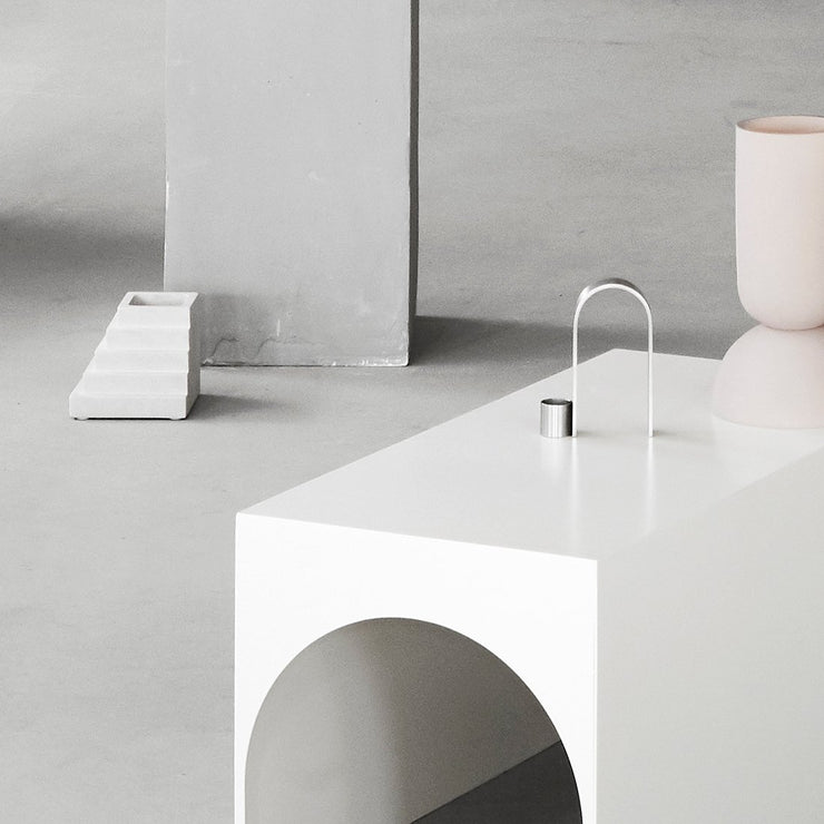 Kristina Dam Studio Arch Candleholder Vol. 1, Stainless Steel