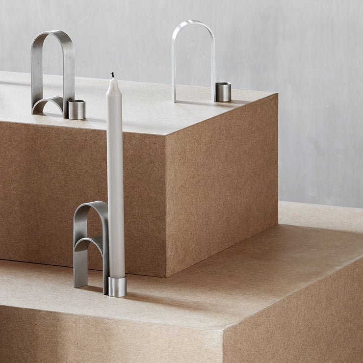 Kristina Dam Studio Arch Candleholder Vol. 3, Stainless Steel