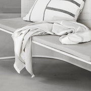 Kristina Dam Studio Architecture Throw, Beige/Off-White