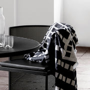Kristina Dam Studio Contemporary Throw, Black/Off-White