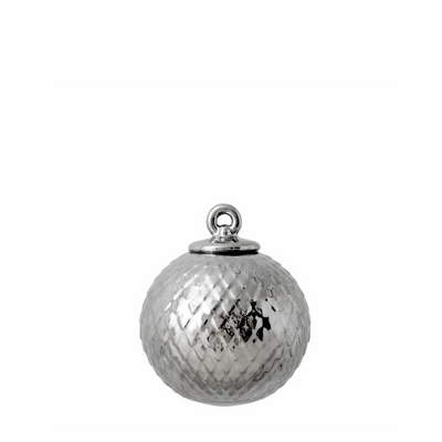 Rhombe Decor Bauble, Silver