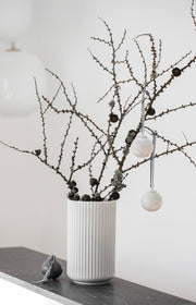 Rhombe Decor Bauble, White