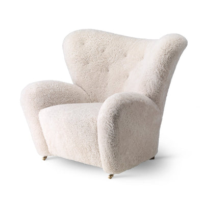 By Lassen The Tired Man Lounge Chair, Sheepskin, Moonlight