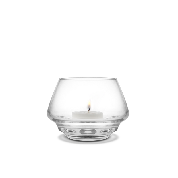Flow Tealight Holder, Clear