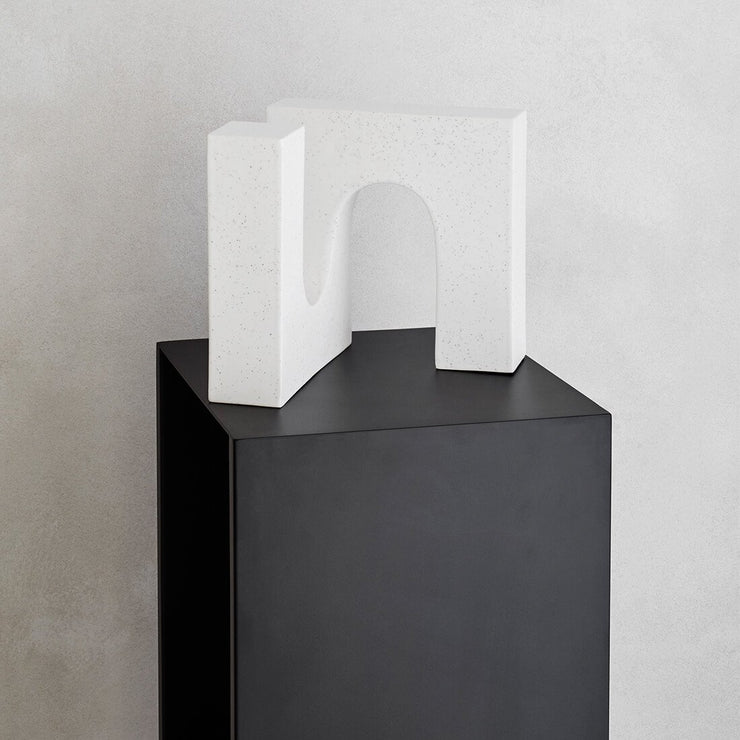 Perfect slim tall black side table for entryway Kristina Dam Studio