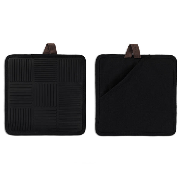 Pot holder 2 pcs., Black