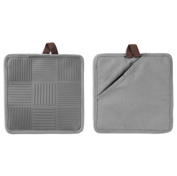 Pot holder 2 pcs., Grey