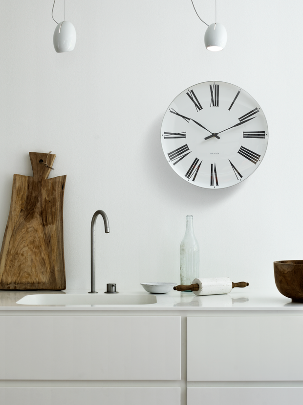 Arne Jacobsen Roman Wall Clock, 19""