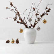 Lyngby-Rhombe-Decor-Bauble-Silver