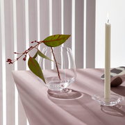 Flow Taper Candleholder, Clear