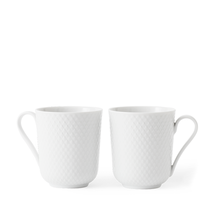 Rhombe Mug w/Handle, 2 Pcs.