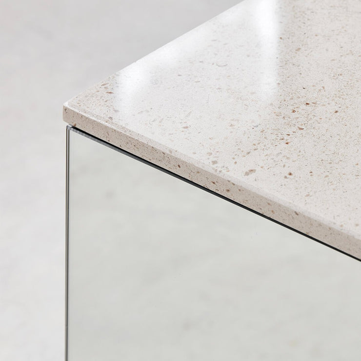 kristina dam studio collection of mirror and marble small coffee tables