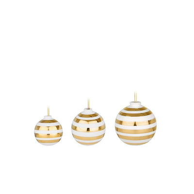 Kähler-Omaggio-Christmas-Baubles-Gold-3Pcs.