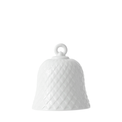 Rhombe Decor Bell, White