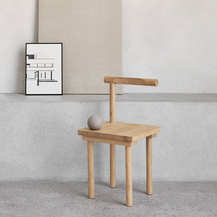 kristina dam studio solid oak chair dinning or decorative