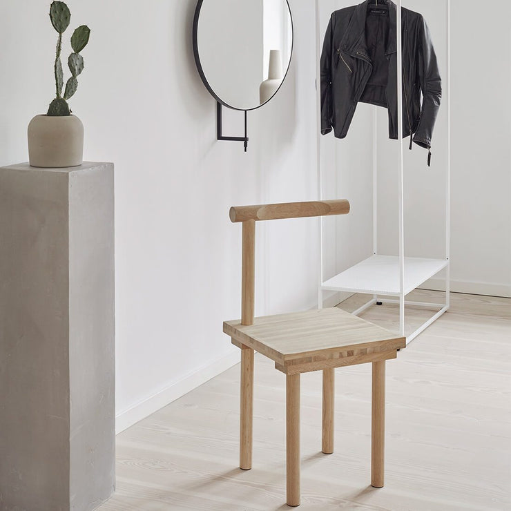 kristina dam studio dining chair solid oak sculptural shape unique