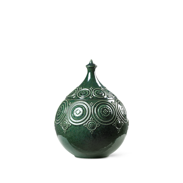 "Bjørn Wiinblad Symphony Magic Jar 6"", Dark Green"