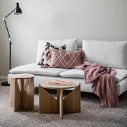 small and large oak coffee tables kristina dam studio