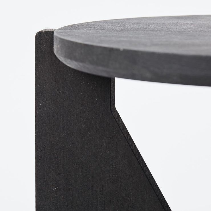 large round black wood coffee table kristina dam studio