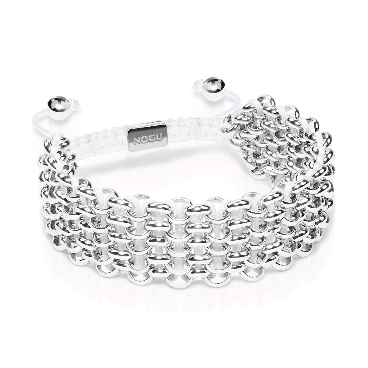 Supreme Kismet Links Bracelet | Silver | White | Deluxe | Engravable