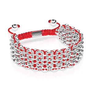 Supreme Kismet Links Bracelet | Silver | Red | Deluxe | Engravable