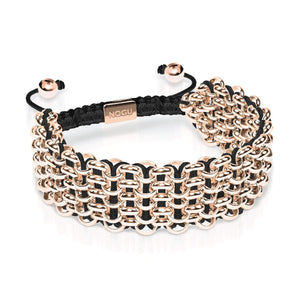 Supreme Kismet Links Bracelet | 18k Rose Gold | Black | Deluxe | Engravable