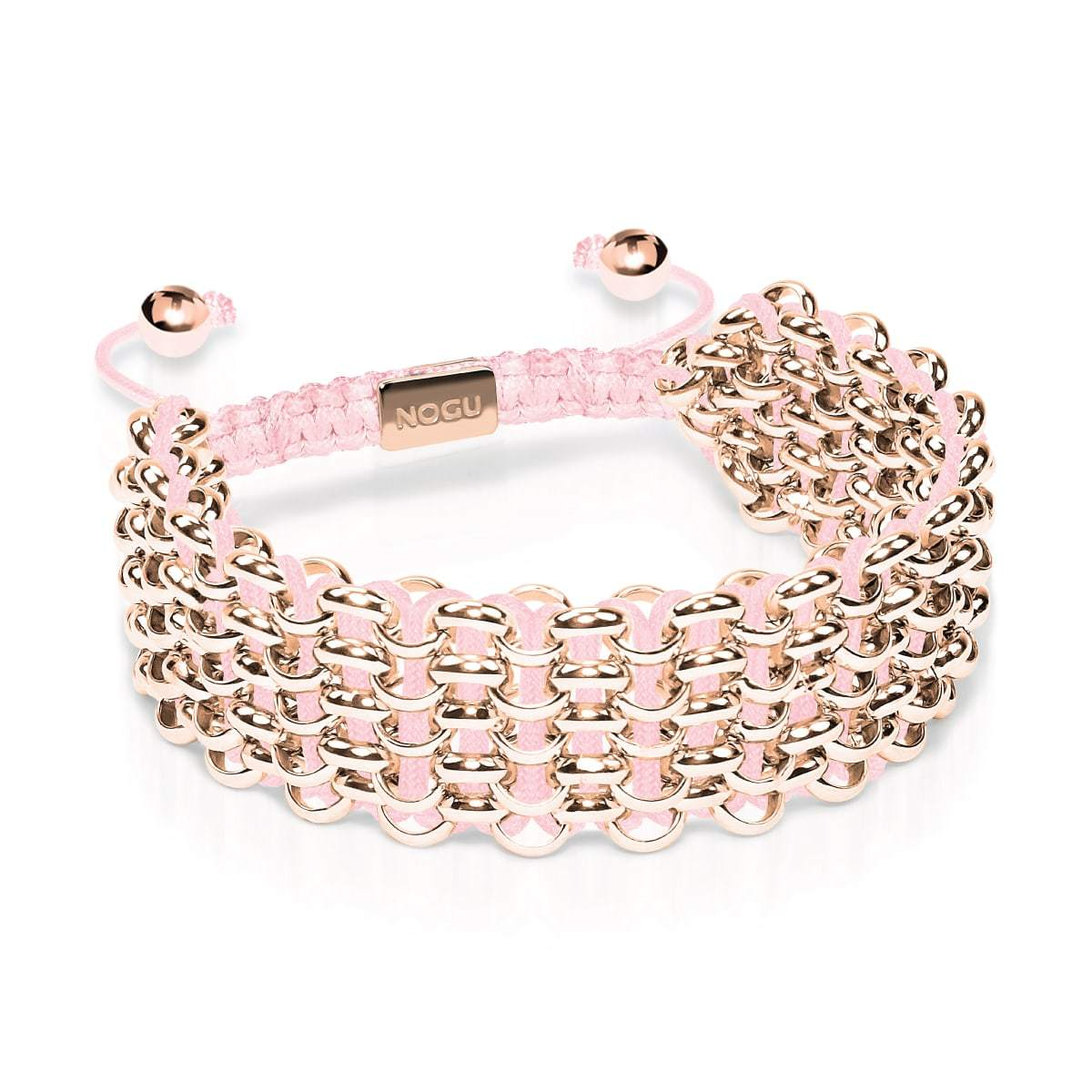 Supreme Kismet Links Bracelet | 18k Rose Gold | Pink | Deluxe | Engravable
