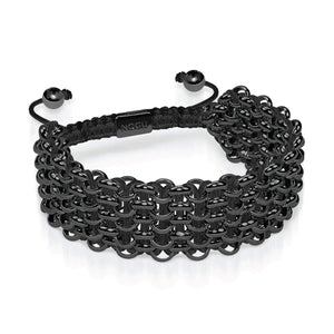 Supreme Kismet Links Bracelet | Gunmetal | Black | Deluxe | Engravable