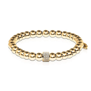 Mesmerizing | 18k Gold | Crystal Pave Expression Bracelet | Engravable