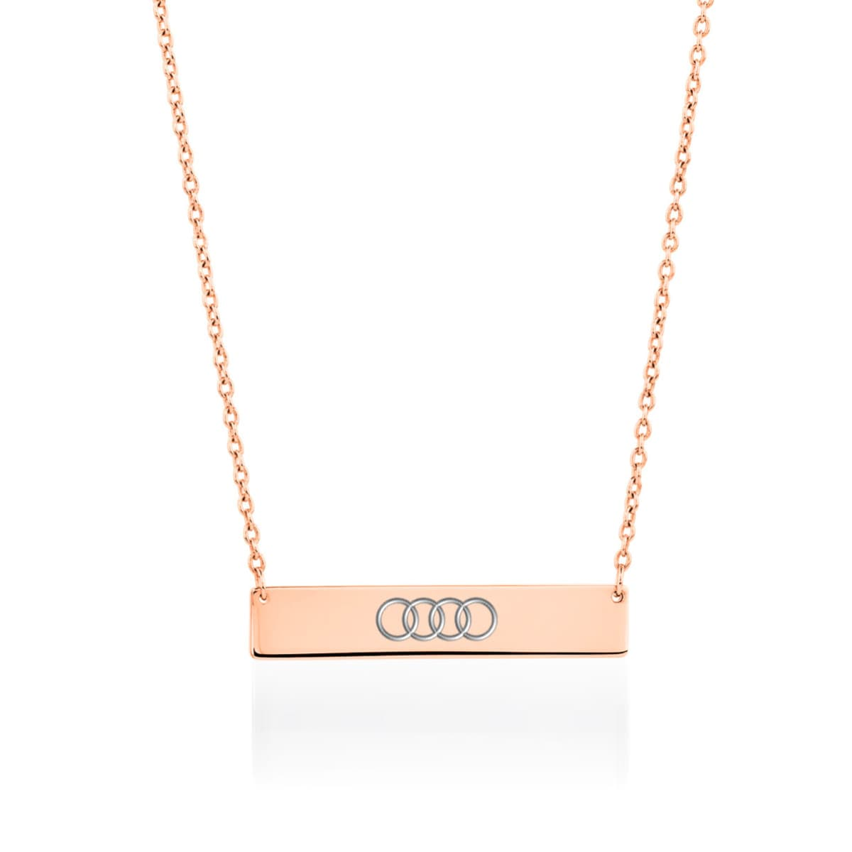 Minimalist Bar | 18k Rose Gold | Necklace | Engravable