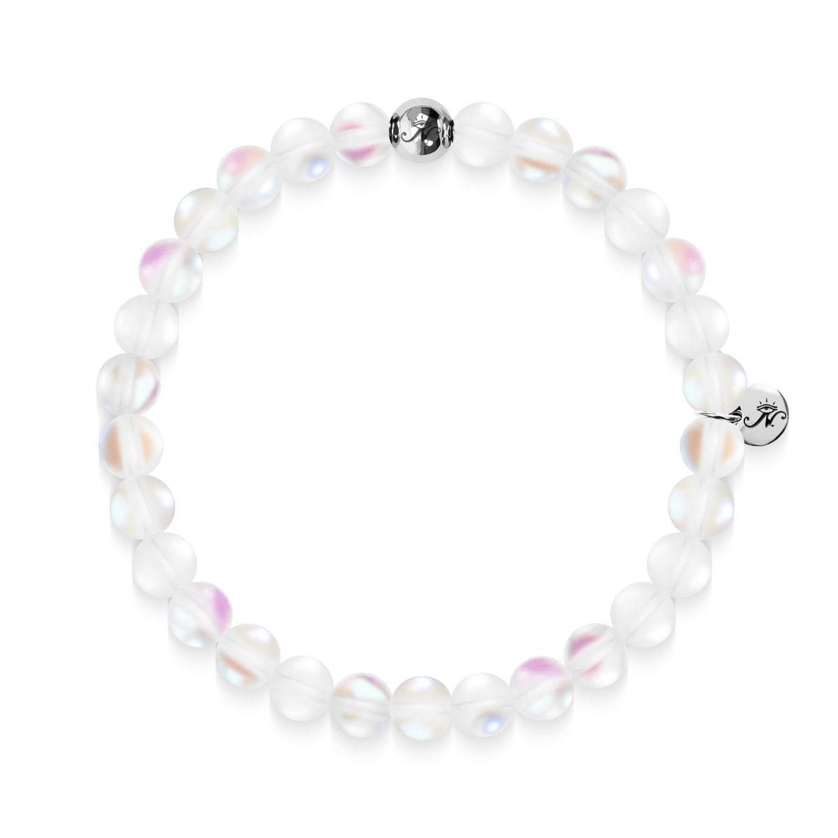White | .925 Sterling Silver | Mermaid Glass Bead Bracelet