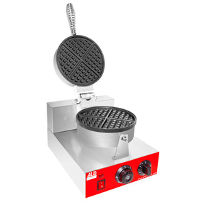 AR-HWB1A Belgian Waffle Maker | Waffle Iron with Red Panel | Nonstick