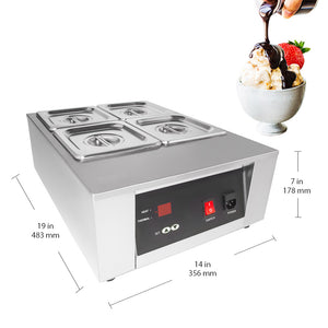 220V / 4tanks, portable food warmer