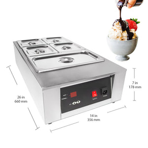 220V / 5tanks, portable food warmer