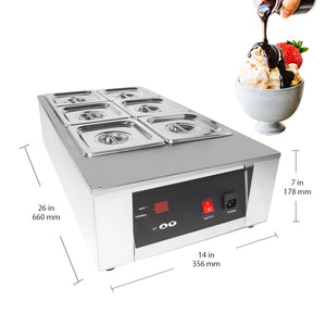 220V / 6tanks, electric food warmer