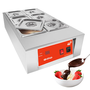 220V / 6 tanks, chocolate warmer machine