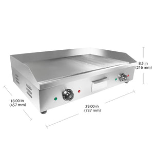 Large (half ribbed) / 220V, flat griddle