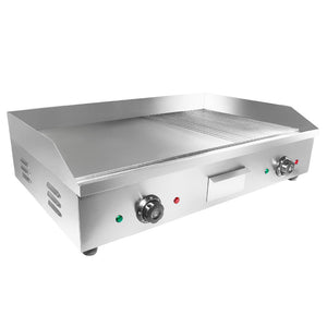 Large (half ribbed) / 110V, electric griddle