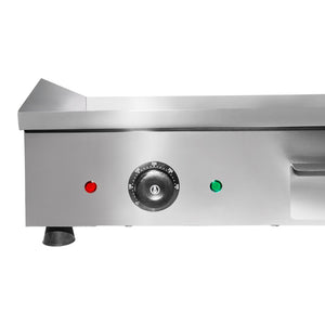 Large (half ribbed) / 220V, flat top grill
