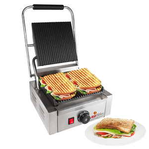 ALD-589 Panini Sandwich Press Grill | Durable Construction with Adjustable Temperature Control ALDKitchen