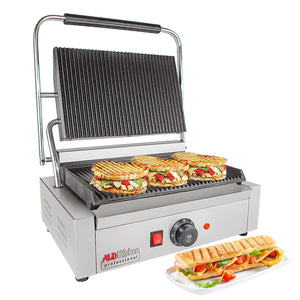 ALD-590 Panini Press | Sandwich Maker Machine with Big Surface | Adjustable Control | Nonstick Coating