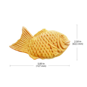 ALDKitchen Taiyaki Machine Commercial | 6 Fish Shaped Waffles | Stainless Steel Taiyaki Maker