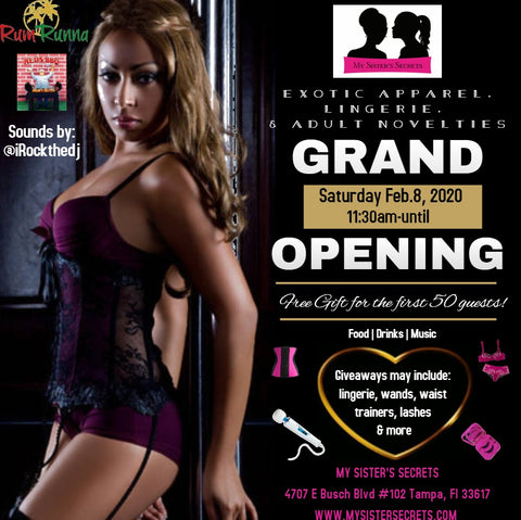 My Sister's Secrets first black owned adult store in Tampa grand opening 2/8/20