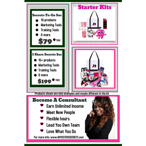 My Sister's Secrets Party Consultant Kits