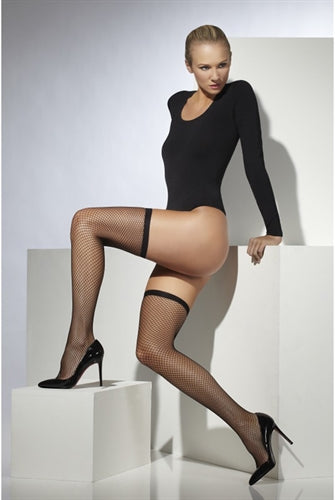 Lattice Net Stockings - Black FV-42746
