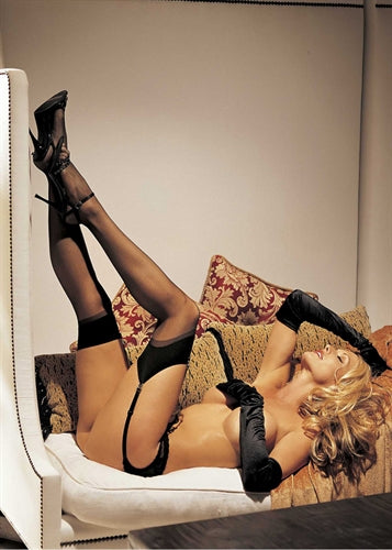 Sheer Thigh High - One Size - Black HOT-90024BLK