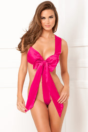 Satin Bow Teddy