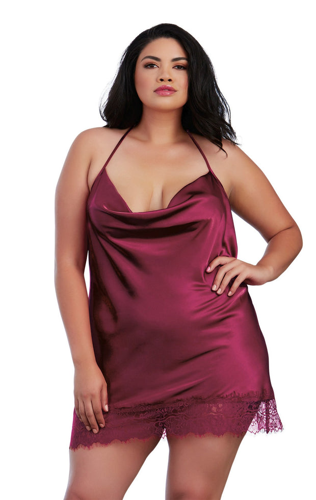 burgundy lingerie piece for plus size in tampa