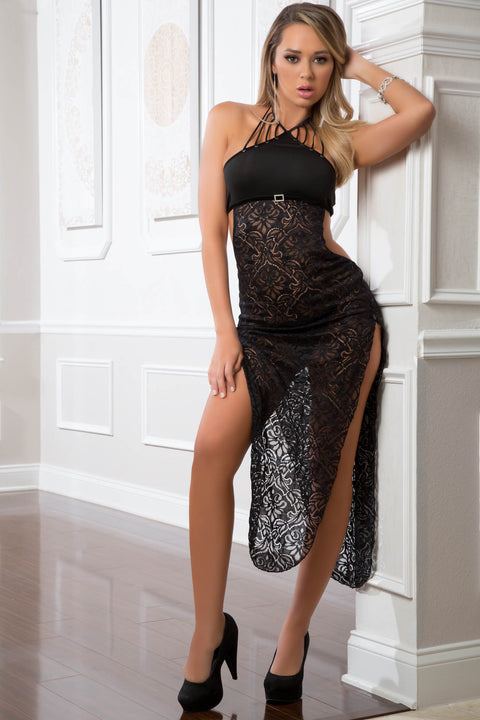 Baring Laced Night Dress